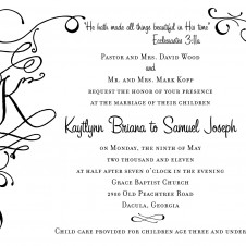 Joe & Kaytlynn Wedding Invite