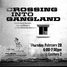 Crossing Into Gangland Flyer
